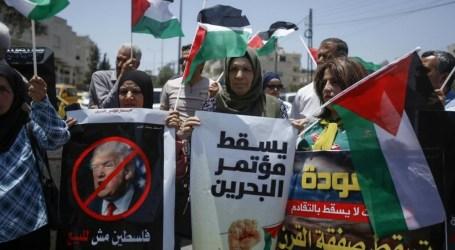 """جماهير قطاع غزة تنظم فعاليات جمعة """"فليسقط مؤتمر البحرين"""""""