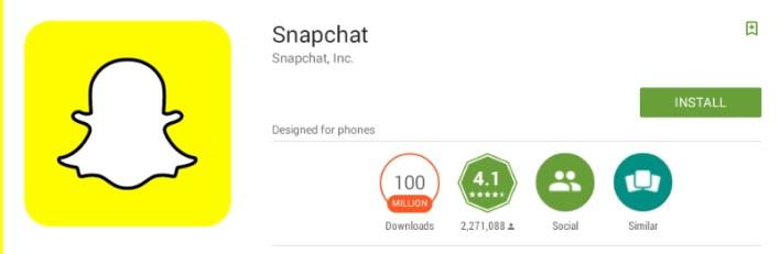 تحميل برنامج سناب شاب SnapChat