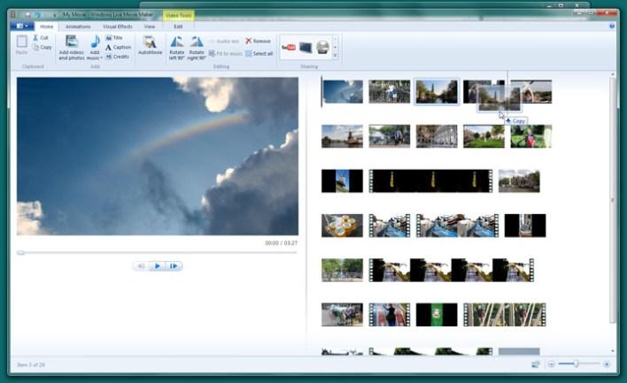 برنامج صانع الافلام موفي ميكر windows movie maker