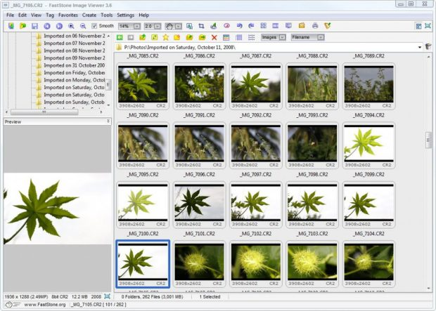 canon cr2 viewer & converter تحميل برنامج معرض الصور -