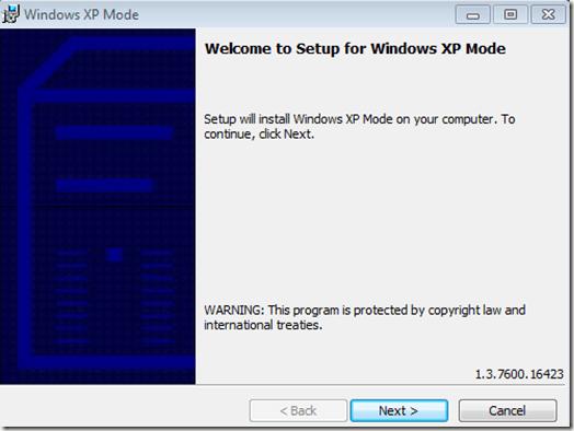 كيفية استخدام وضع Xp في ويندوز 7