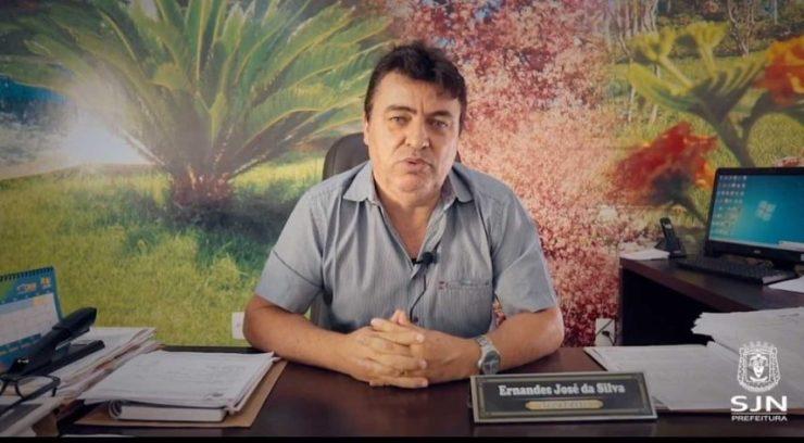 Prefeito de São João Nepomuceno anunciou decreto por causa do coronavírus — Foto: Prefeitura/Divulgação