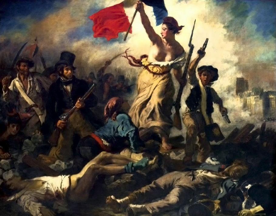 Eugène Delacroix - La Liberté Guidant le Peuple (1830)
