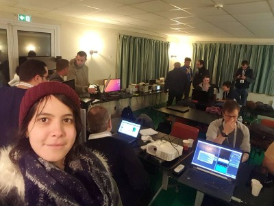 Rayane Kadem au camp SDR à Paris