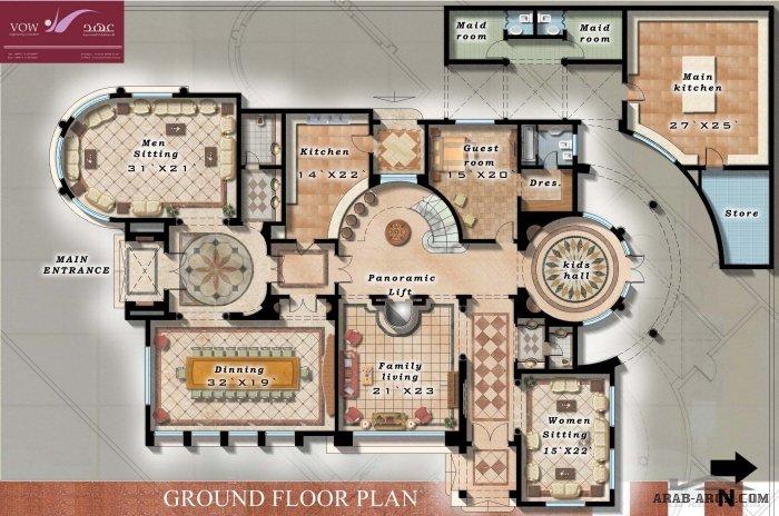 Floor Plans + Dubai Private Villa