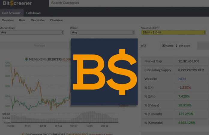 BitScreener مشروع