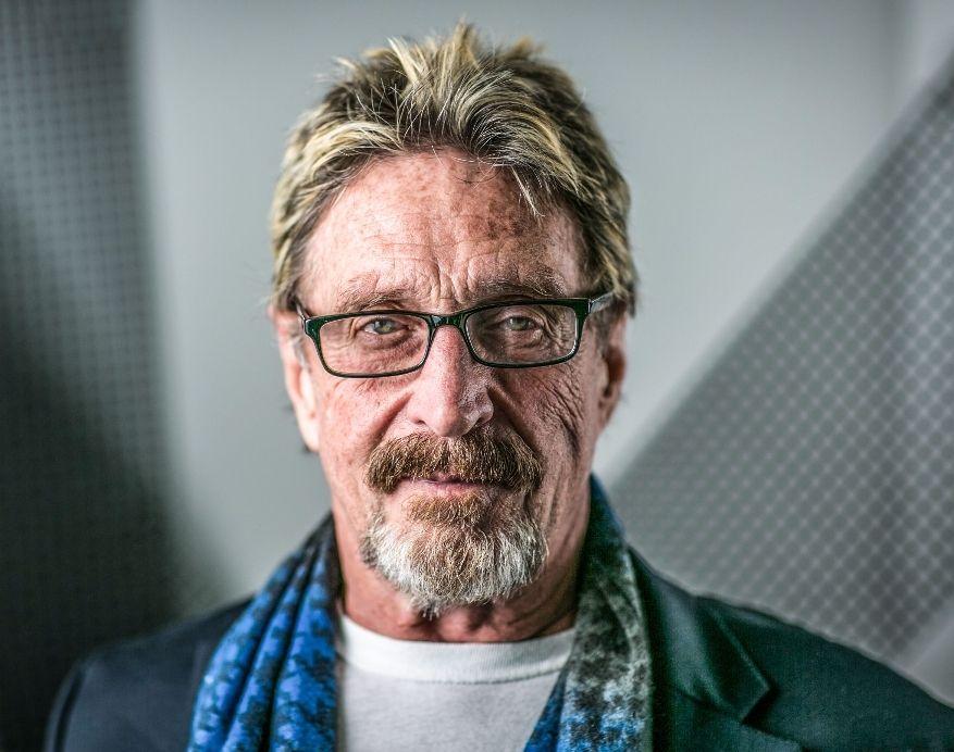 """تحديثات جديدة من """"جون مكافي"""" وضخه لأحد العملات الرقمية من السجن"""