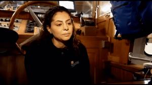 لاجئة سورية تعمل قبطان