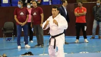 صورة وزير الرياضة يشارك في مران رواد الكاراتيه بنادي الزهور