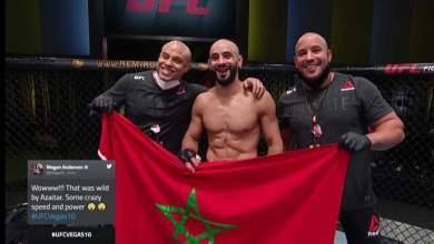 صورة البطل المغربي عثمان زعيتر يتألق بأمريكا