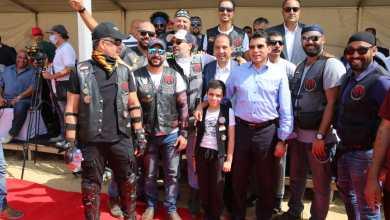 صورة بالصور.. الاتحاد المصري للدراجات النارية ينجح في تنظيم أكبر رالي على صحراء سقارة