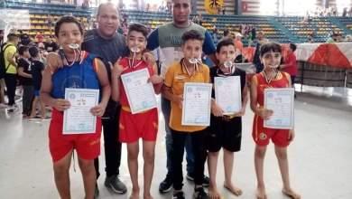 """صورة 5 ميداليات متنوعه لنادي المنيا في بطولة """"مصر المفتوحة"""" للكونغ فو"""