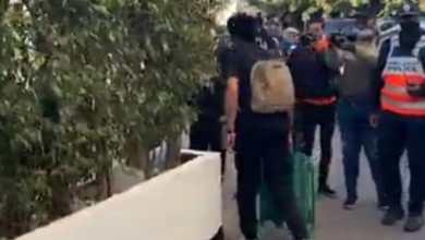 صورة الاهلي يغادر فندق الإقامة متجهاََ إلى الاستاد