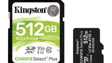 Photo of كينغستون تضيف  Canvas Select Plusإلى مجموعتها من بطاقات الذاكرة الرقمية