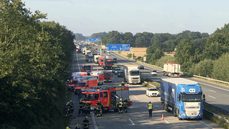 حادث مريع على طريق بلدة ألمانية