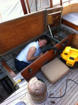 Jen in the sail locker