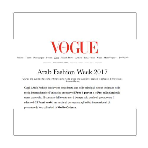 Arab Fashion Week-VOGUE ITALIA