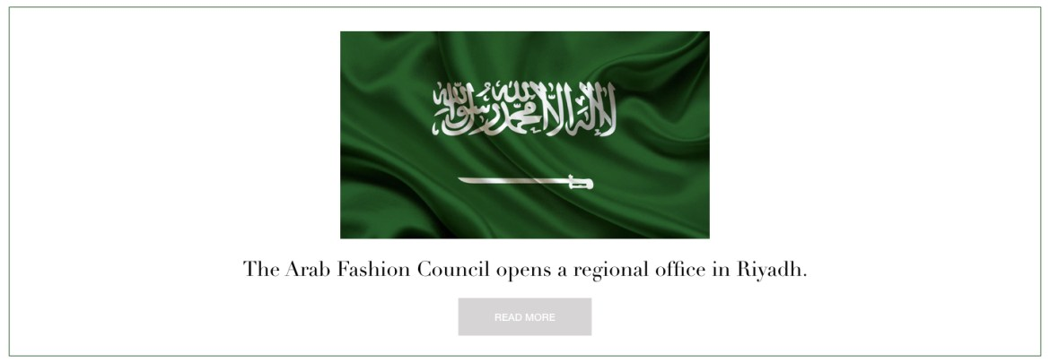 Arab Fashion Council-Riyadh-Vision 2030