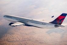صورة هبوط رحلة Delta Air Lines  في مطار أثينا ؛ بسبب عطل إنذار كاذب