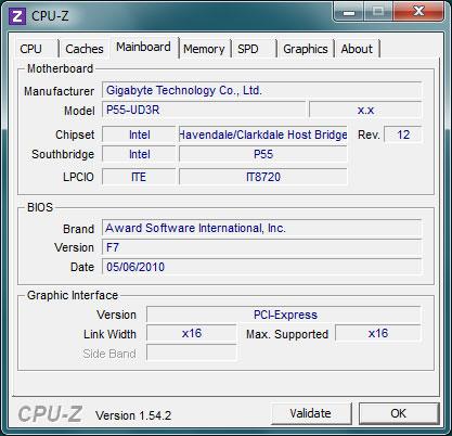 Mainboard CPU-Z