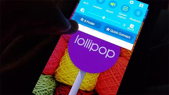 Android Lollipop على Galaxy Note 4