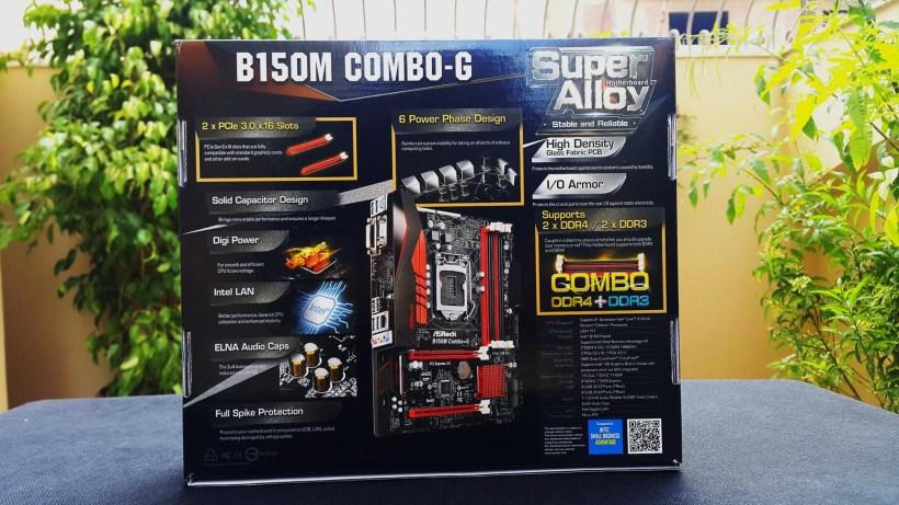 Asrock B150M Combo G Box back