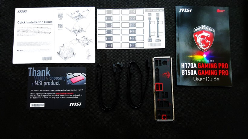 4- MSI B150A Gaming Pro Box inside