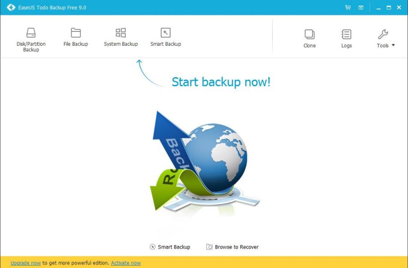 easeus to do backup
