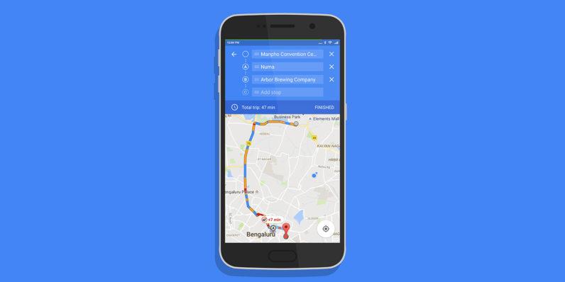 Google Maps multiple-waypoints