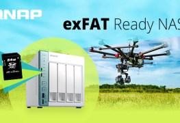 QNAP تقدم تعريف exFAT