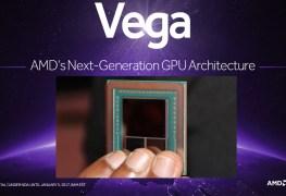 صورة لنواة AMD VEGA بذاكرة HBM2 وحجم 16GB
