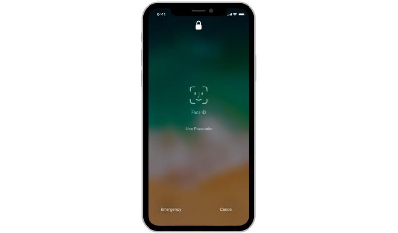 الوجه Face IDفي هاتفها الجديد iPhone X وذلك