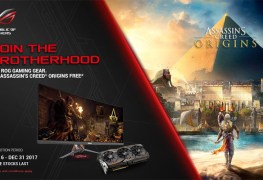 احصل على لعبة Assassin's Creed Origins مجاناً عند شراء بطاقات أو شاشات ASUS ROG