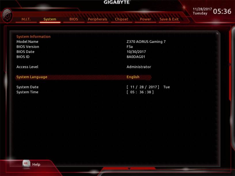 GIGABYTE Z370 AORUS Gaming 7 Bios (17)