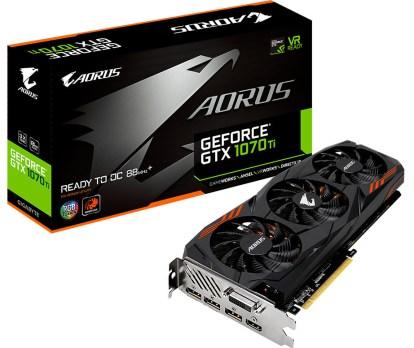 جيجابايت تدشن بطاقة AORUS GTX 1070Ti 8G الجديدة