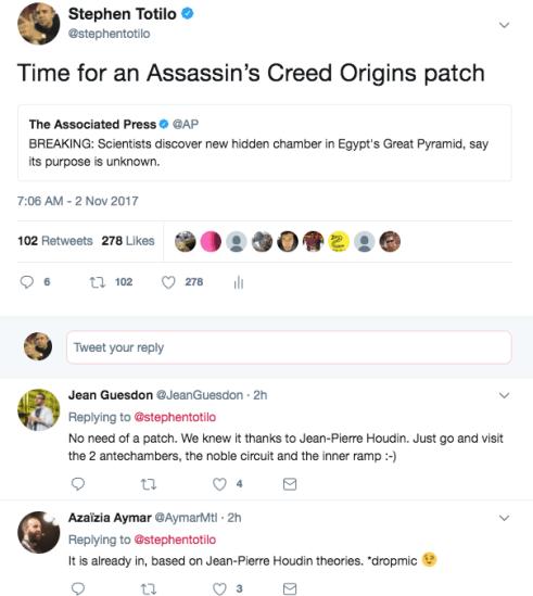 مطور Origins يفتخر بالدقة التاريخية في اللعبة