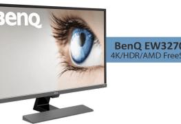 دقة 4K مع تقنية AMD FreeSync HDR تصل لشاشة BenQ EW3270U