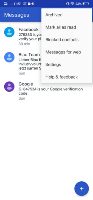 Android Messages ، رسائل أندرويد