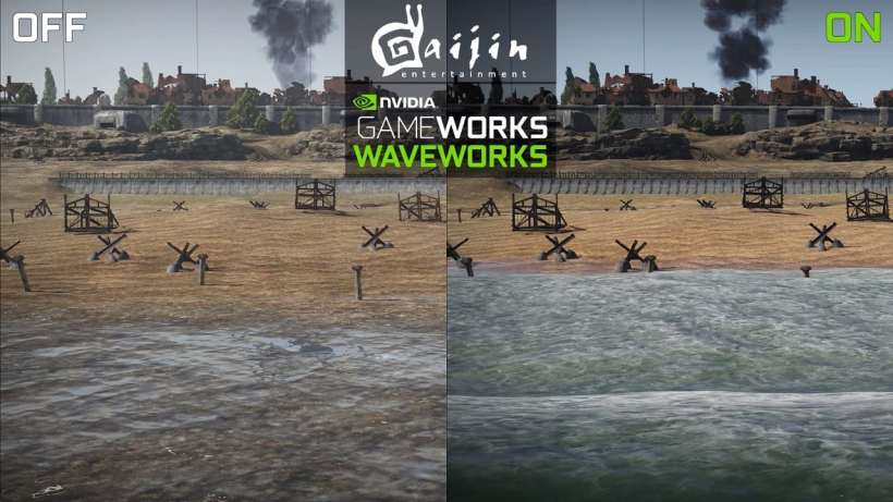 WaveWorks in War Thunder