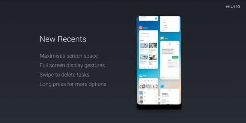 Xiaomi MIUI 10 ، واجهة شاومي الجديدة