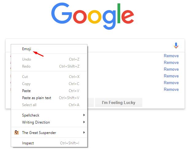 تفعيل لوحة مفاتيح الإيموجي في Google Chrome