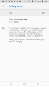 HMD Nokia 6.1 UI Battery Saver