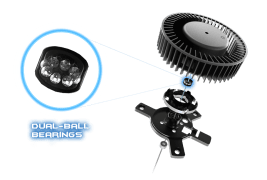 Dual-ball-bearing-fan