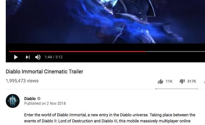 Diablo Immortal Trailer Reaction