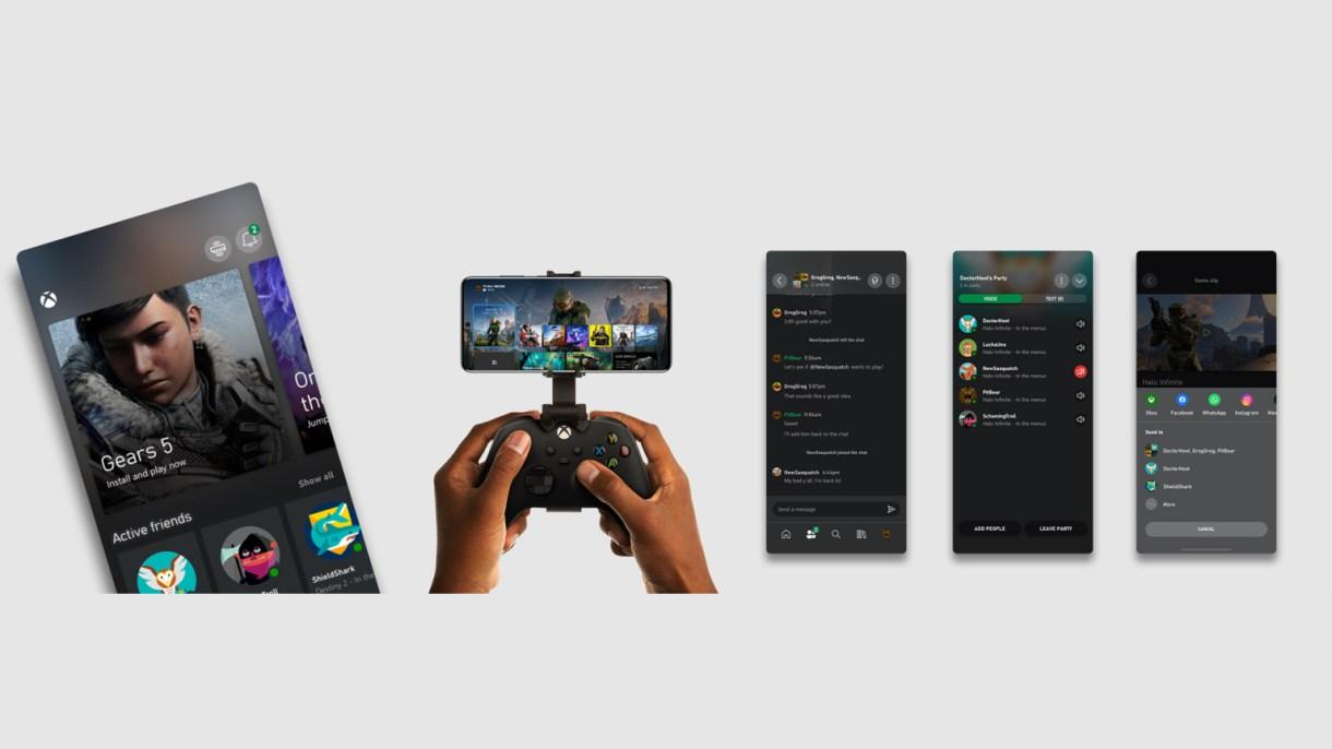 تطبيق Xbox هواتف Xbox Series X S مايكروسوفت