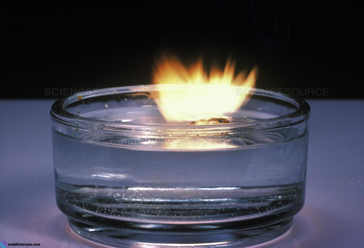 ناتج تفاعل الصوديوم مع الماء