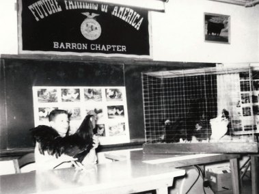 Larry at a 4-H poultry demonstration contest in 1963.