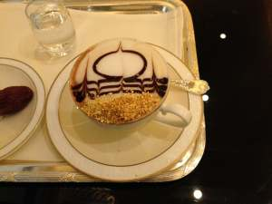 Gold Leaf Coffee at Emirates Palace Hotel