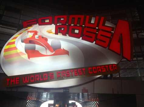 World's faster roller coaster, the Formula Rossa