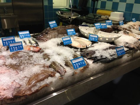 One of the many fish stalls